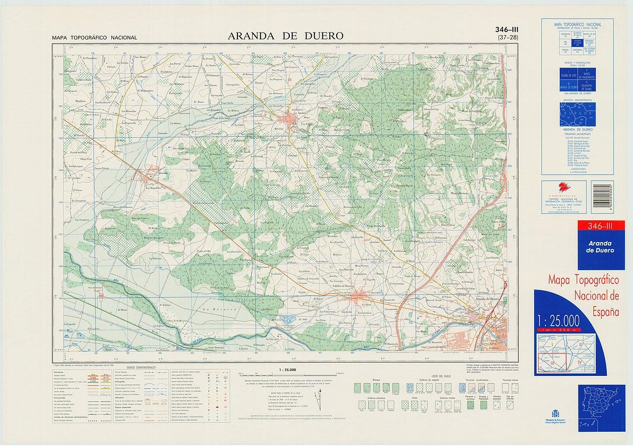 Aranda Del Duero Mapa.File Mtn25 0346c3 2000 Aranda De Duero Jpg Wikimedia Commons