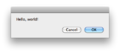 Mac OS X hello world dialog.png