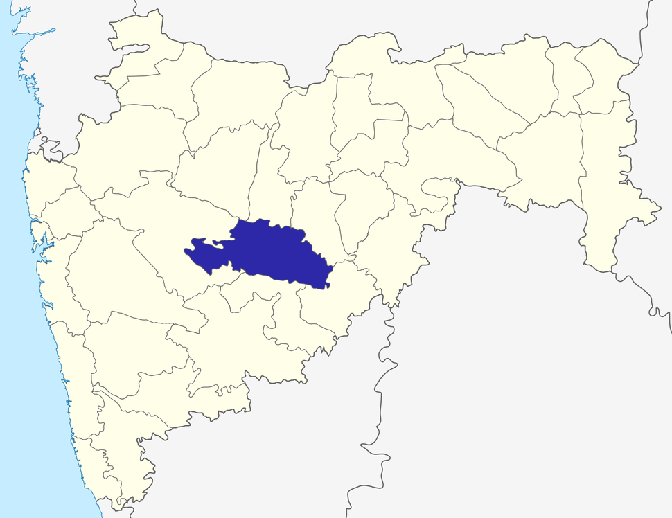 Location of Beed district in Maharashtra