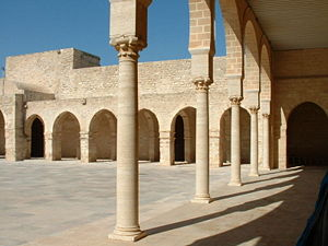 Fatimid architecture - Interior of the Great Mosque of Mahdiya in 2006