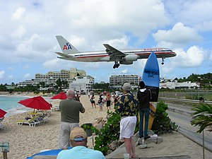 Maho Beach, near Princess Juliana Airport, Caribbean island of Saint Martin-8Feb2008 (1).jpg