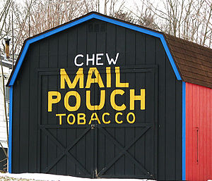 Fultonham, Ohio - Reproduction Mail Pouch tobacco barn