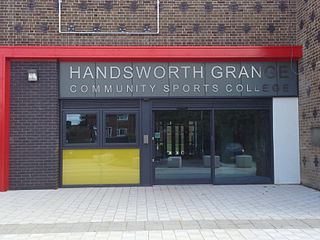 Handsworth Grange Community Sports College Academy in Sheffield, South Yorkshire, England