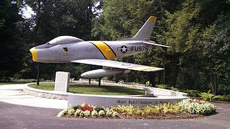 Rudolf Anderson - F-86 Sabre fighter plane in Greenville, South Carolina.