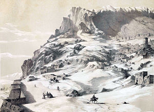 Caucasus Campaign (1735) - Image: Makou border city of Armenia by Eugène Flandin