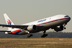 Malaysia Airlines Boeing 777-200ER MEL Nazarinia.jpg