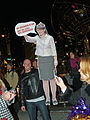 Man protests Proposition 8 with Sarah Palin placard.jpg