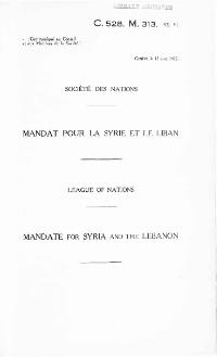 Mandate for Syria and the Lebanon.djvu