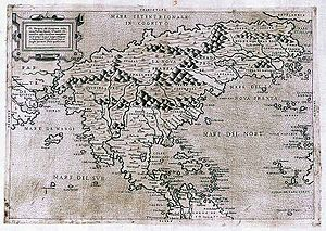 Terra incognita - Map of North America from 1566 showing Italian inscriptions, both Terra In Cognita and Mare In Cognito