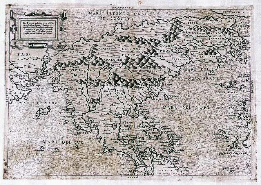 Map North America 1566