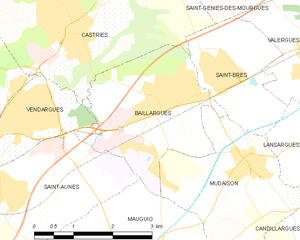 Baillargues - Map