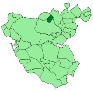 Bornos - Image: Map of Bornos (Cádiz)