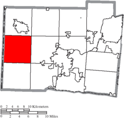 Location of Reily Township in Butler County