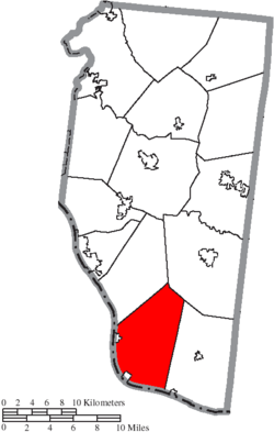Location of Washington Township in Clermont County