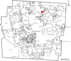 Location of Minerva Park within Franklin County
