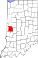Map of Indiana highlighting Parke County.svg