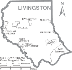 Map of Livingston Parish Louisiana With Municipal Labels.PNG