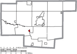 Green Camp, Ohio - Image: Map of Marion County Ohio Highlighting Green Camp Village