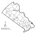Map of Morrisville, Bucks County, Pennsylvania Highlighted.png