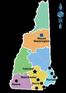 tourist region that encompasses the New Hampshire mountain range