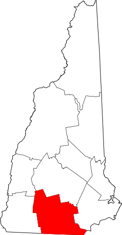 Harta e Hillsborough County në New Hampshire