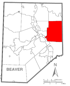 Map of New Sewickley Township, Beaver County, Pennsylvania Highlighted.png
