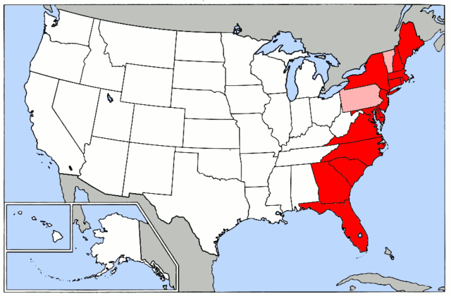 File Map of USA highlighting Eastern Seaboard Wikimedia mons