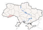 Oblast di Černivci - Mappa di localizzazione