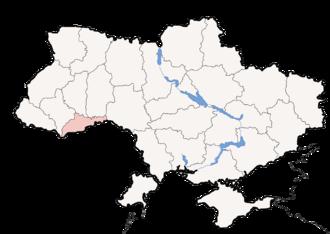 Vyzhnytsia National Nature Park - Image: Map of Ukraine political simple Oblast Czernowitz