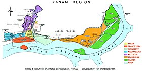 Localisation de District de Yanaon