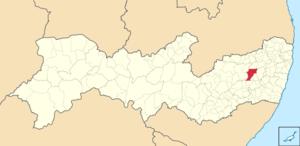 Bezerros - Image: Mapa de Bezerros (2)