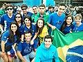 Marco Thúlio com seus amigos durante a JMJ-Rio 2013.jpg