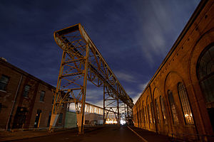 Mare Island Shipyard at Night 2