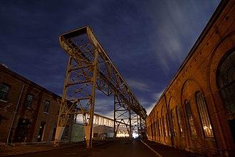California Historical Landmarks in Solano County, California - Image: Mare Island Shipyard at Night 2