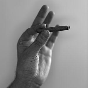 Blunt (cannabis cigar) - A cigarillo blunt.