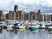Yachts at Liverpool Marina, Coburg Dock