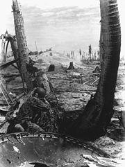 Marine in action at Tarawa