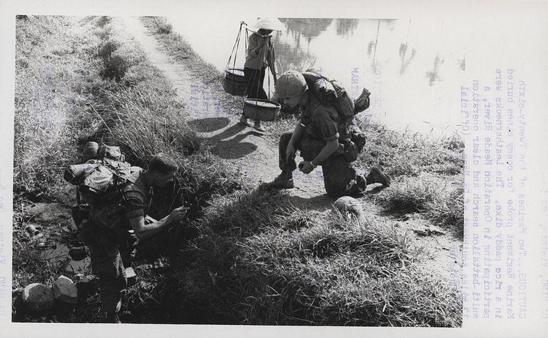 File:Marines Probe for Enemy Mines, 1968 (14994667588).jpg