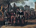Marketscene with performers, attributed to Matthijs Naiveu.jpg