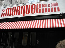 Marquee Club na Upper Saint Martins Lane v Covent Garden v srpnu 2007