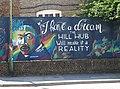 Martin Luther King Image on Highfield Road, Dartford.jpg
