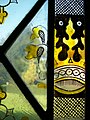 Marton church, detail of stained glass.JPG