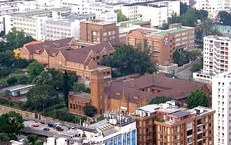 Maryknoll Convent School - Aerial view of Maryknoll Convent School.