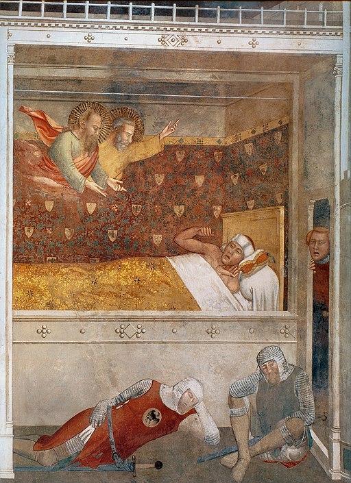 Maso di Banco, Sogno di Costantino, Cappella Bardi di Vernio, Basilica di Santa Croce, Firenze