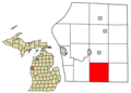 Mason County Michigan Incorporated and Unincorporated areas Eden Township Highlighted.png