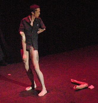 Mat Fraser - Mat Fraser performing in 2008, removing his artificial arms