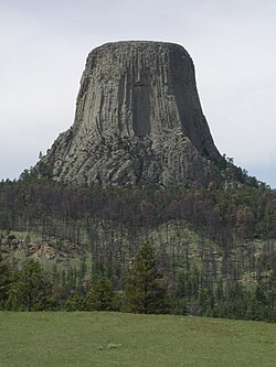 Mato Tipila (Devils Tower) at Devils Tower National Monument