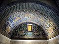 Mausoleo di galla placidia, int., cervi alla fonte di sx 01.JPG