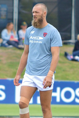 Max Gawn - Max Gawn warming up prior to a pre-season game in February 2017