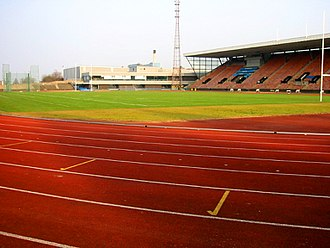 Edinburgh City F.C. - Meadowbank Stadium, the club's home which is currently undergoing renovation